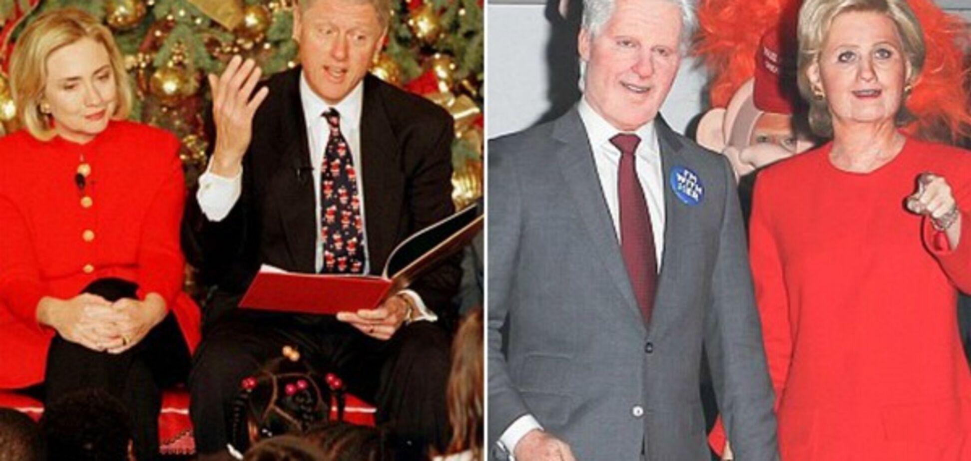 Кэти Перри и Орландо Блум в образе Билла и Хиллари Клинтон