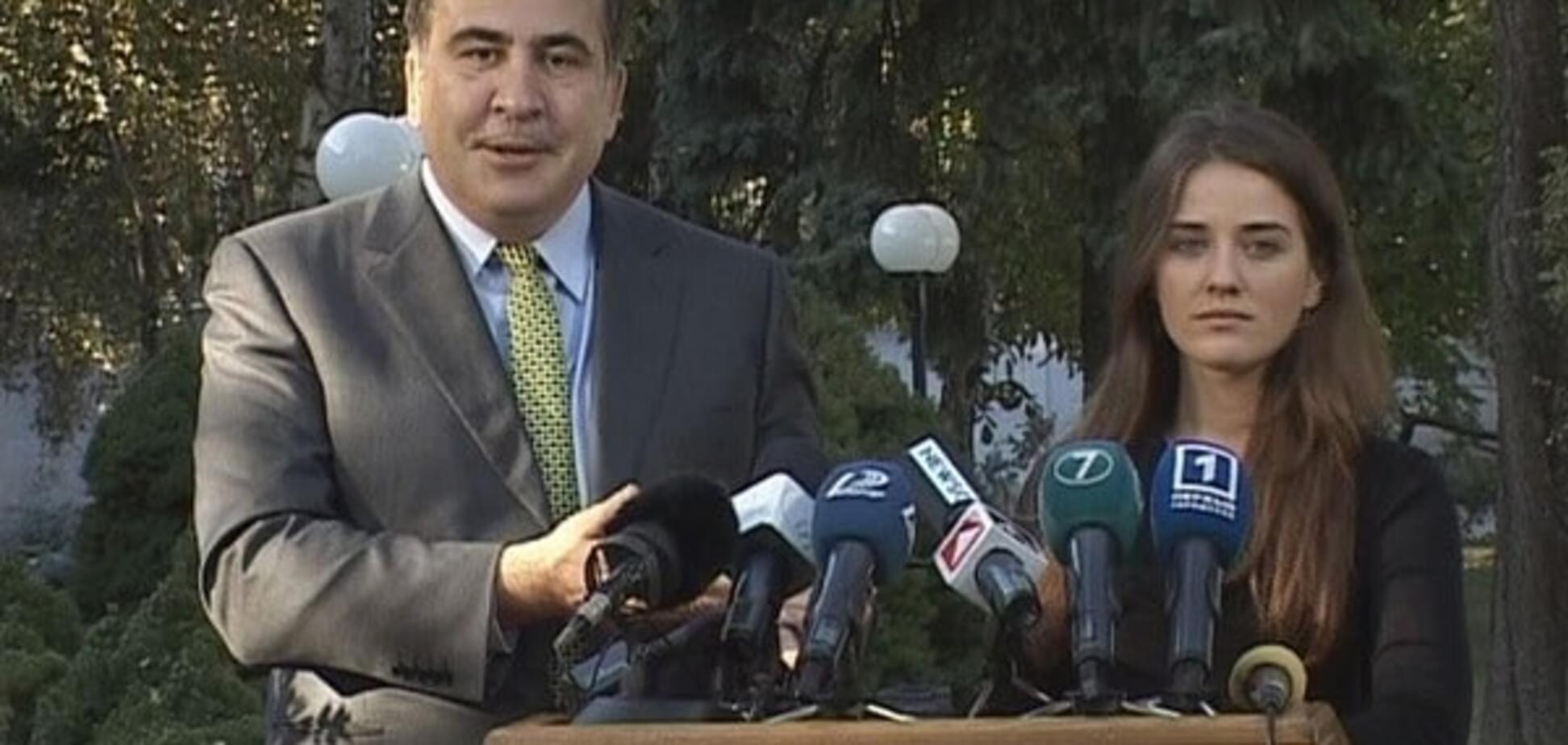 Михаил Саакашвили и Юлия Марушевская