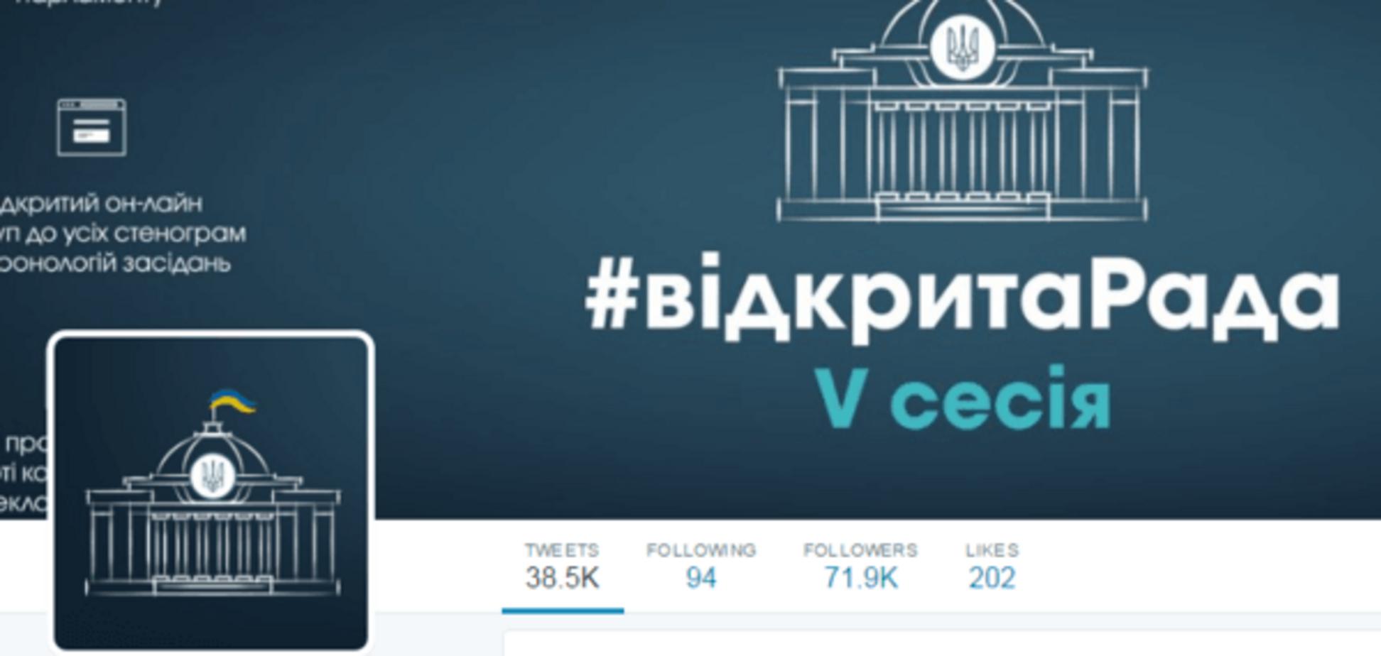 Twitter Верховної Ради