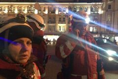 Парамедики в центре Киева