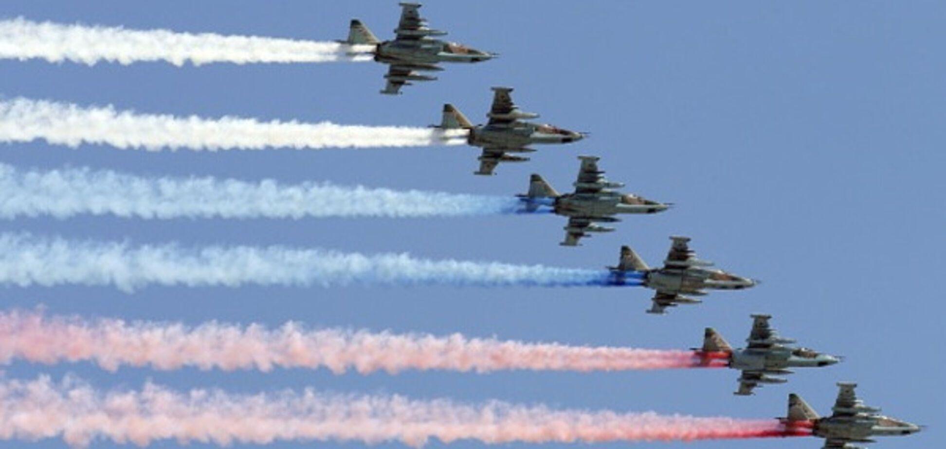 росія військові літаки шоу