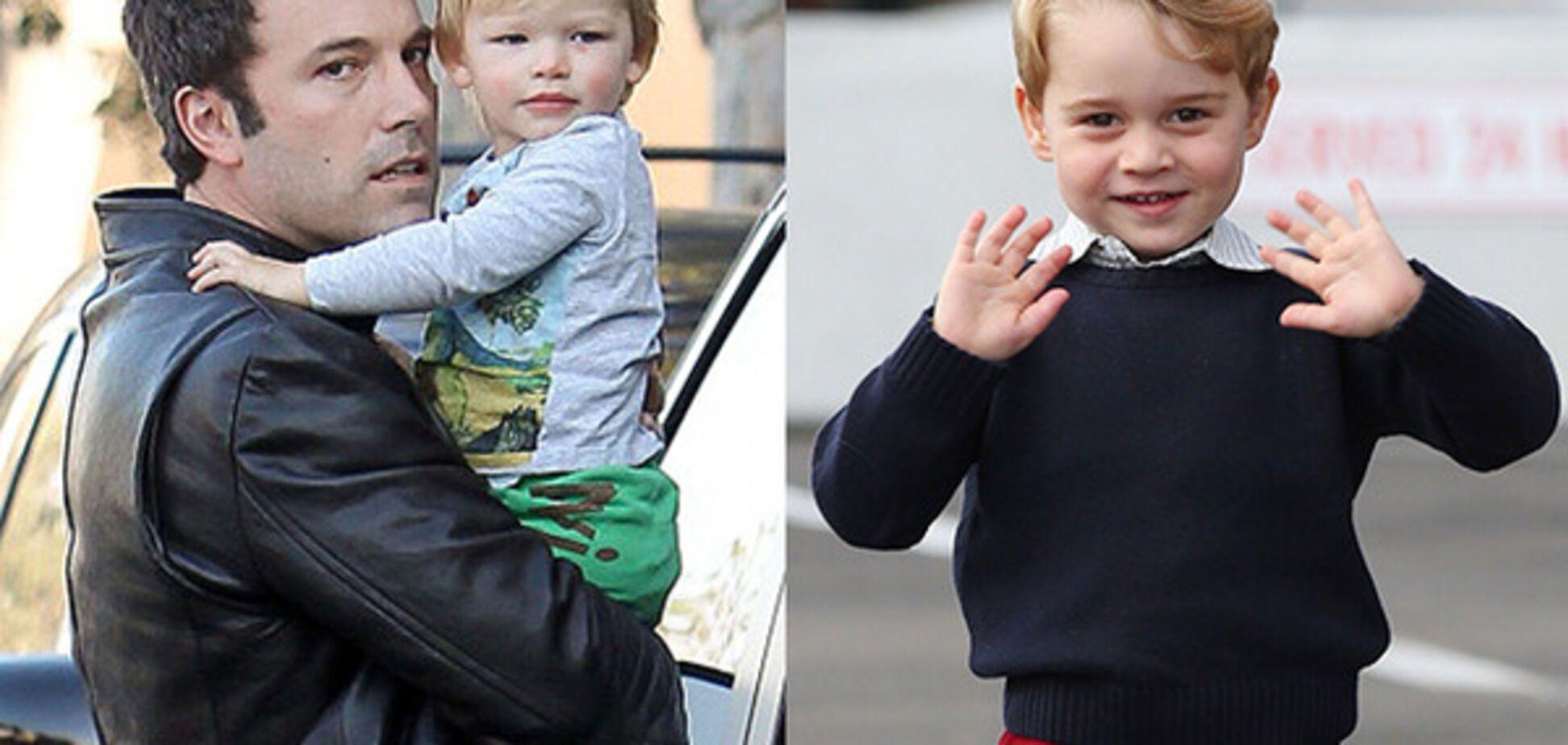 Бен Аффлек с сыном, принц Джордж