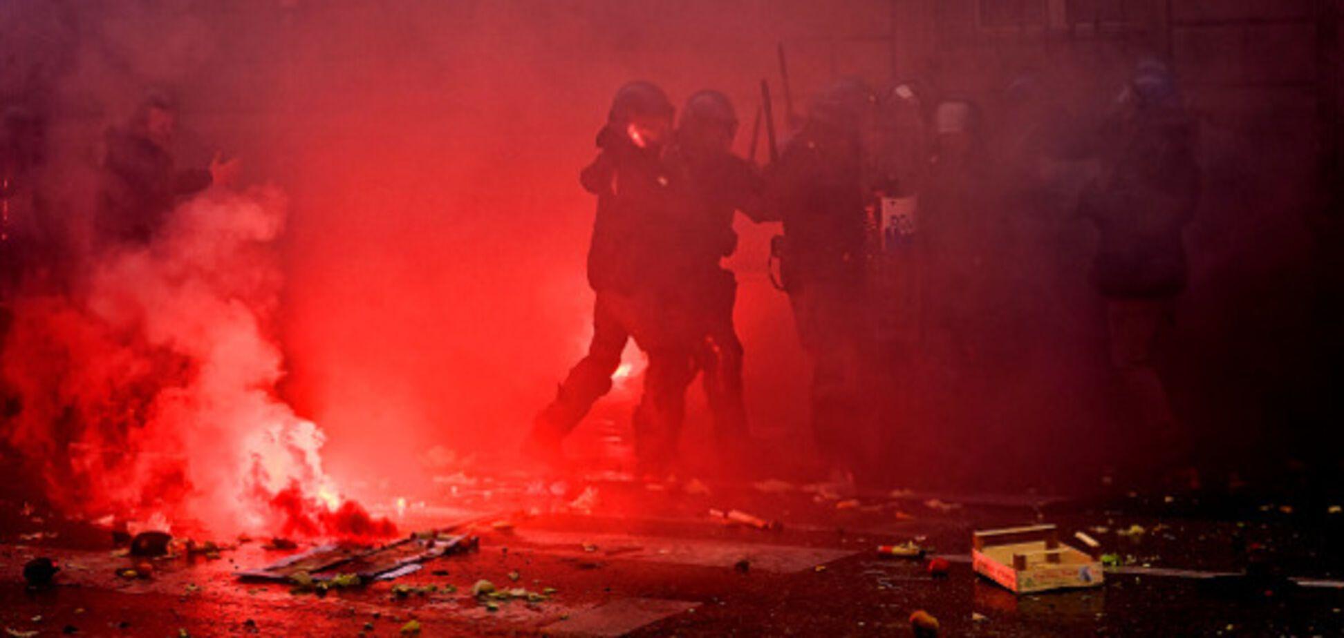 Столкновения в Италии