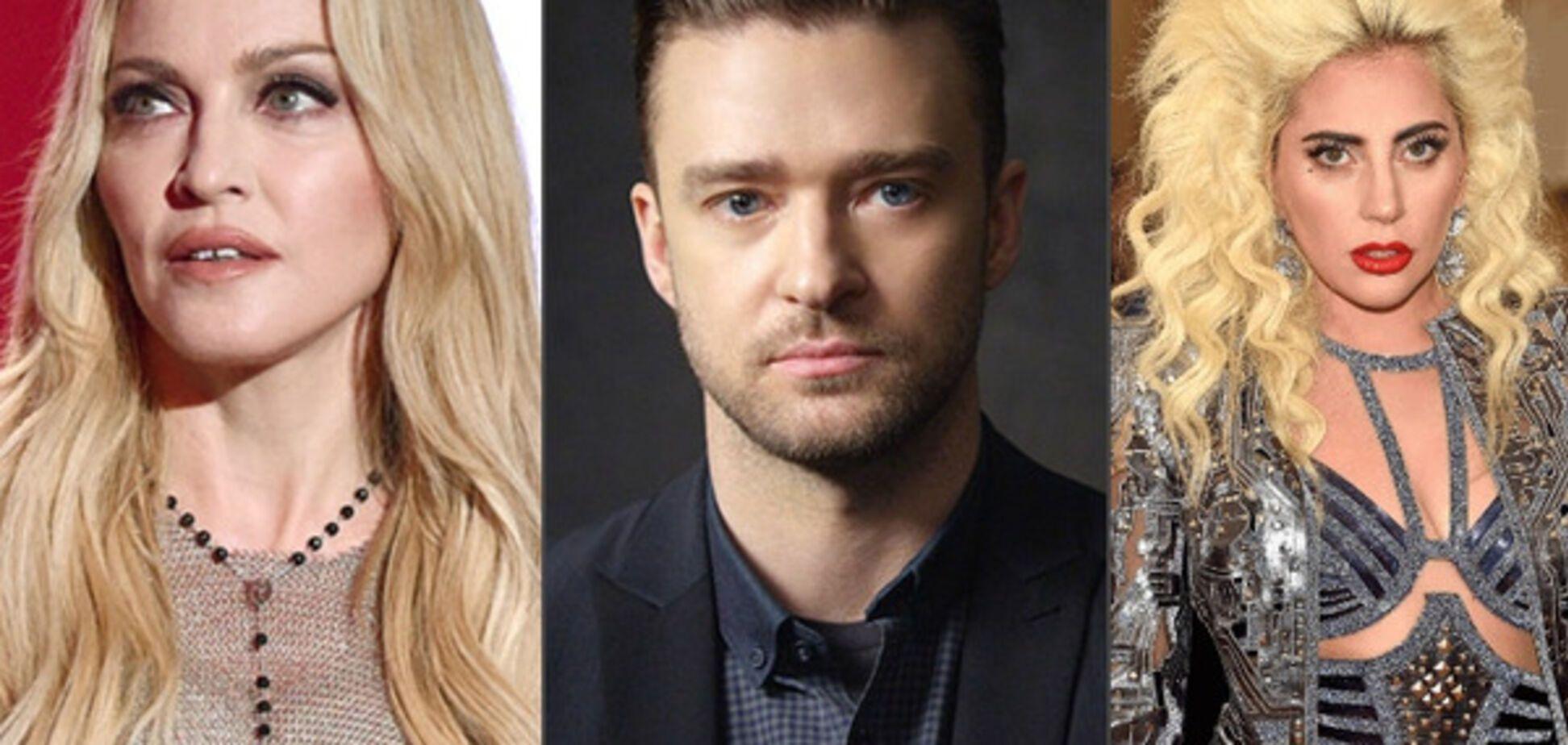 Мадонна, Джастин Тимберлейк, Леди Гага