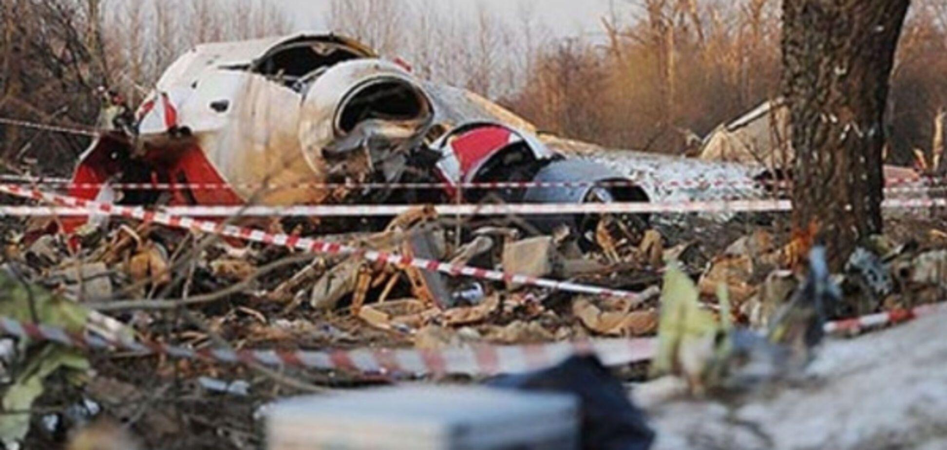 Обломки Ту-154М под Смоленском