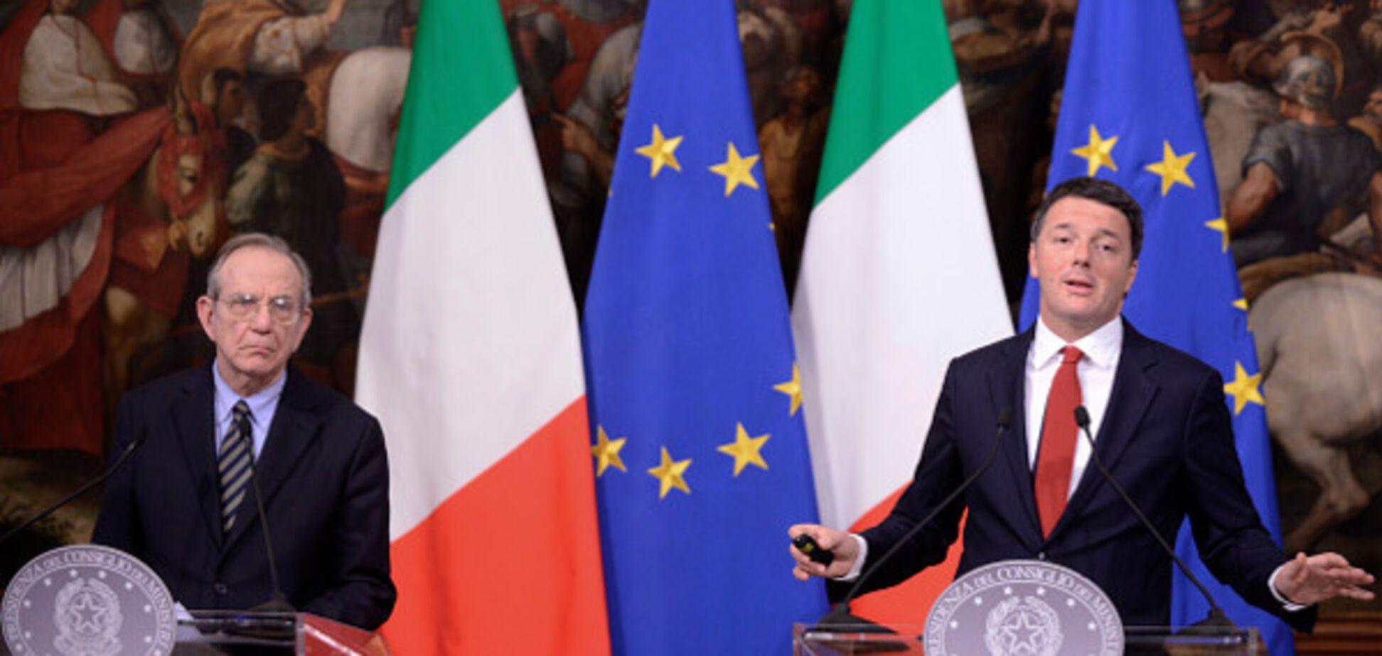 Карло Падоан и Маттео Ренци
