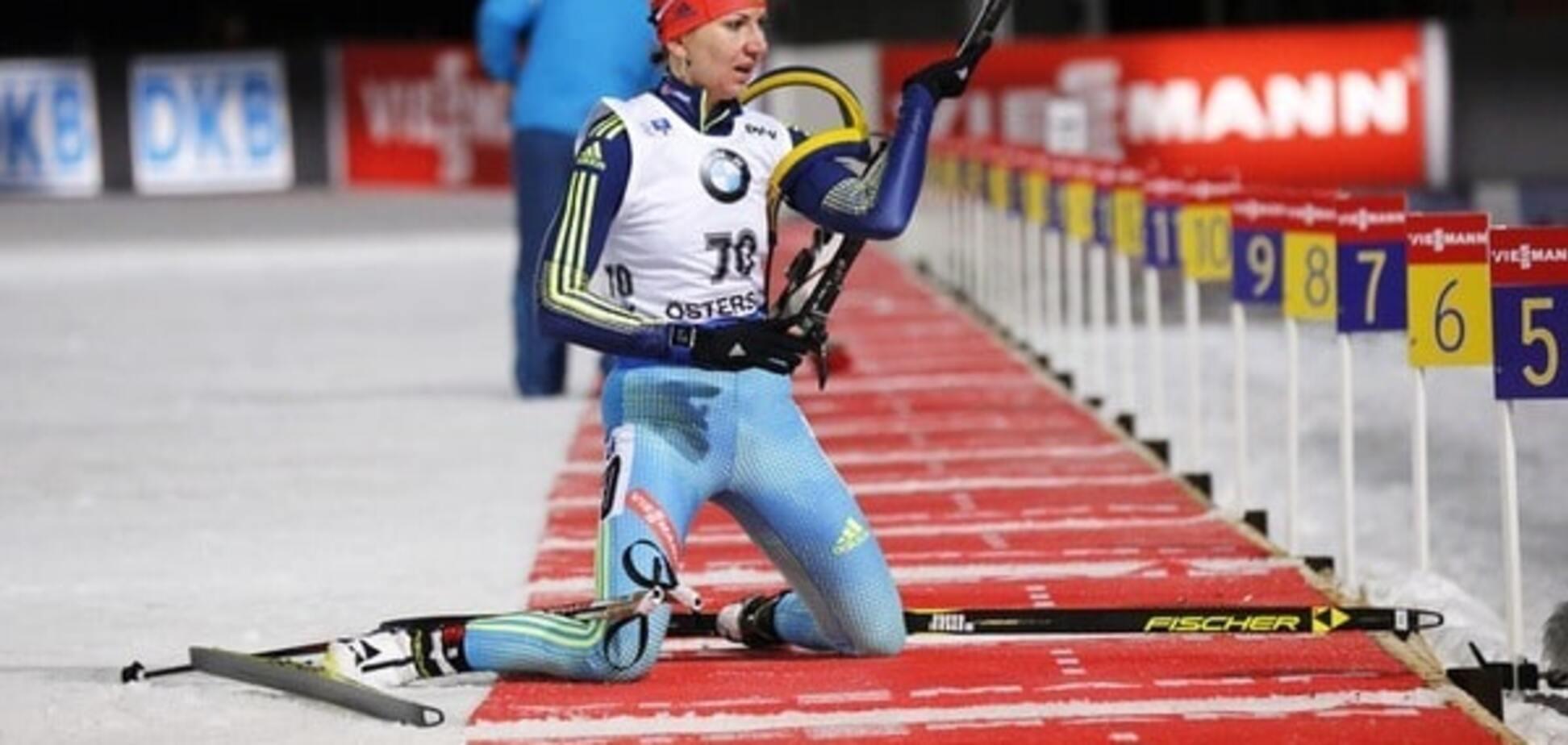 Елена Пидгрушная совершила прорыв в гонке преследования на Кубке мира по биатлону