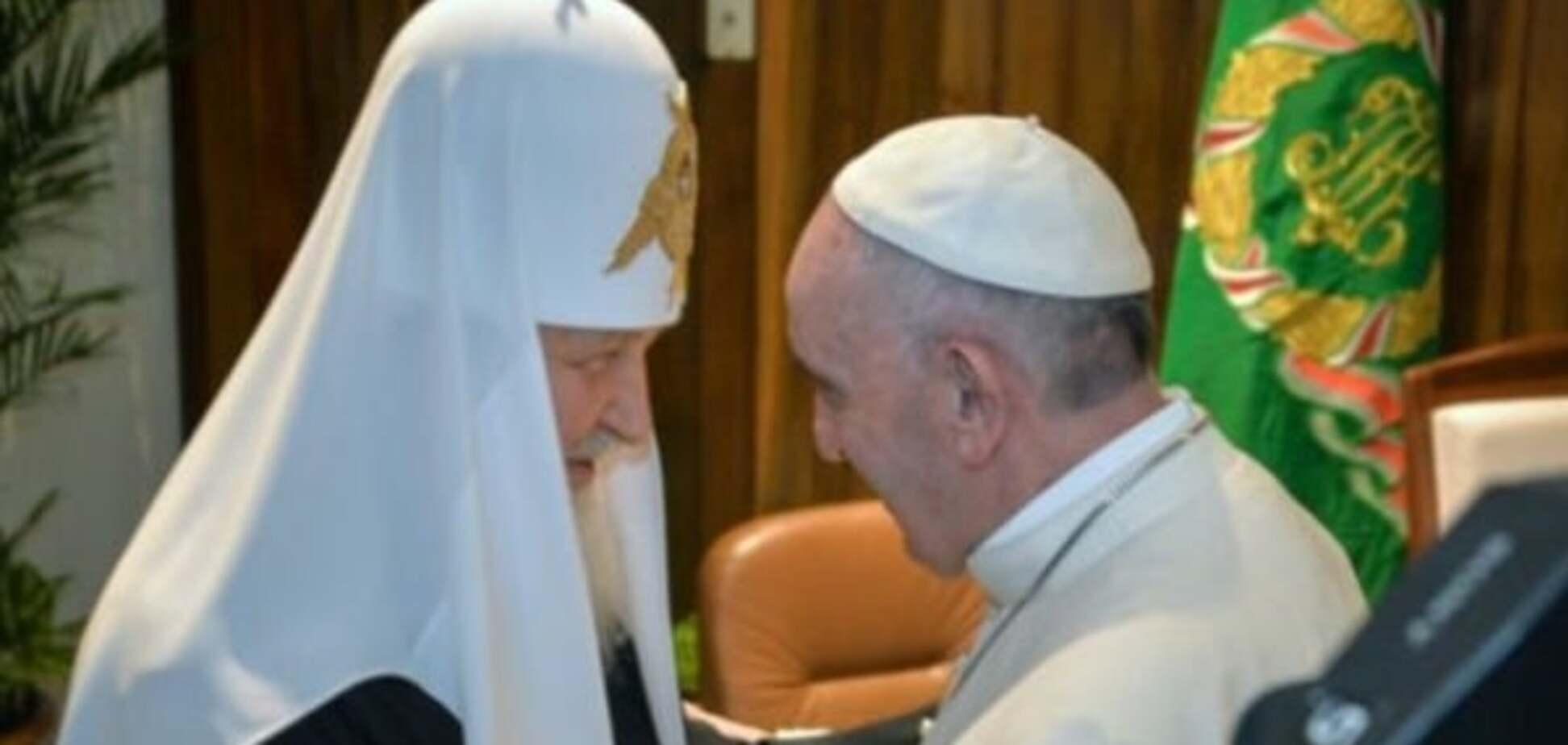 Папа Римський вперше зустрівся із Патріархом всія Русі: опубліковані фото