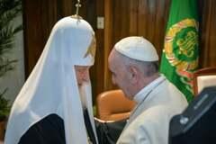Папа Римский впервые встретился с Патриархом всея Руси: опубликованы фото