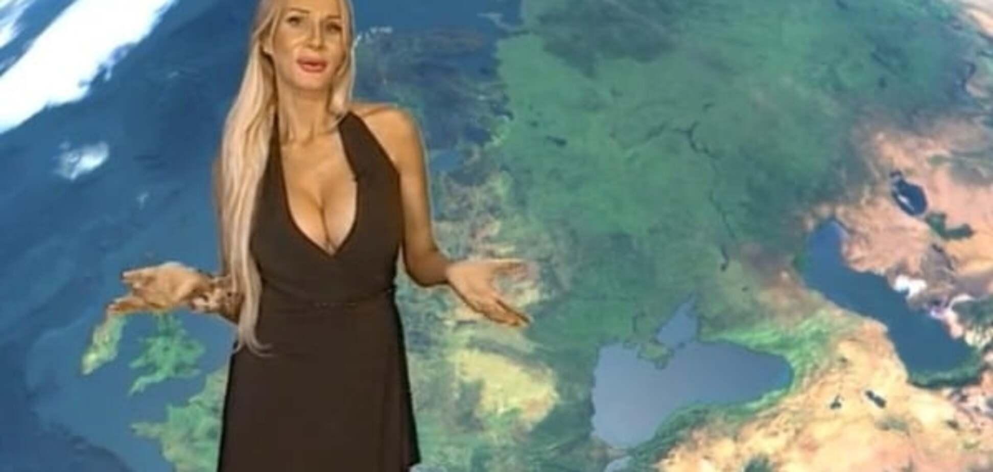 Російська ведуча прогнозу погоди 'підірвала' інтернет своїми формами: опубліковано відео