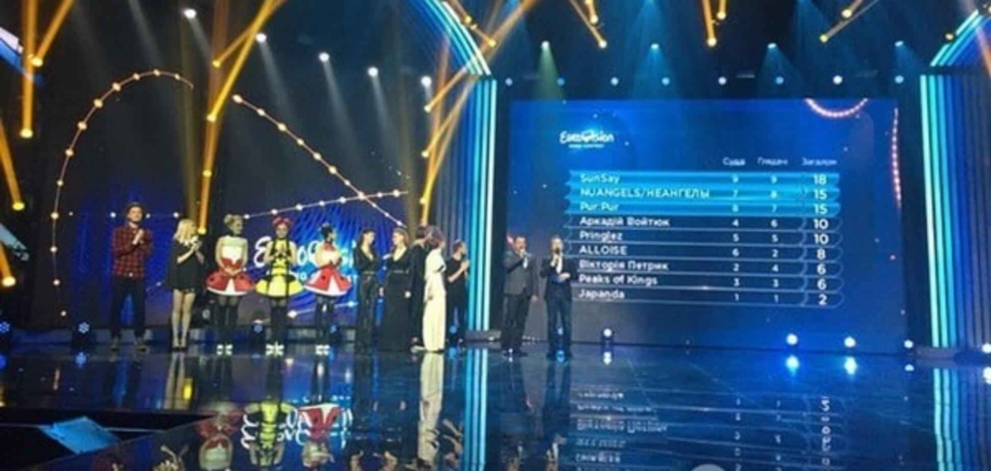 Євробачення 2016: SunSay розгромив 'НеАнгелів' у Нацвідборі