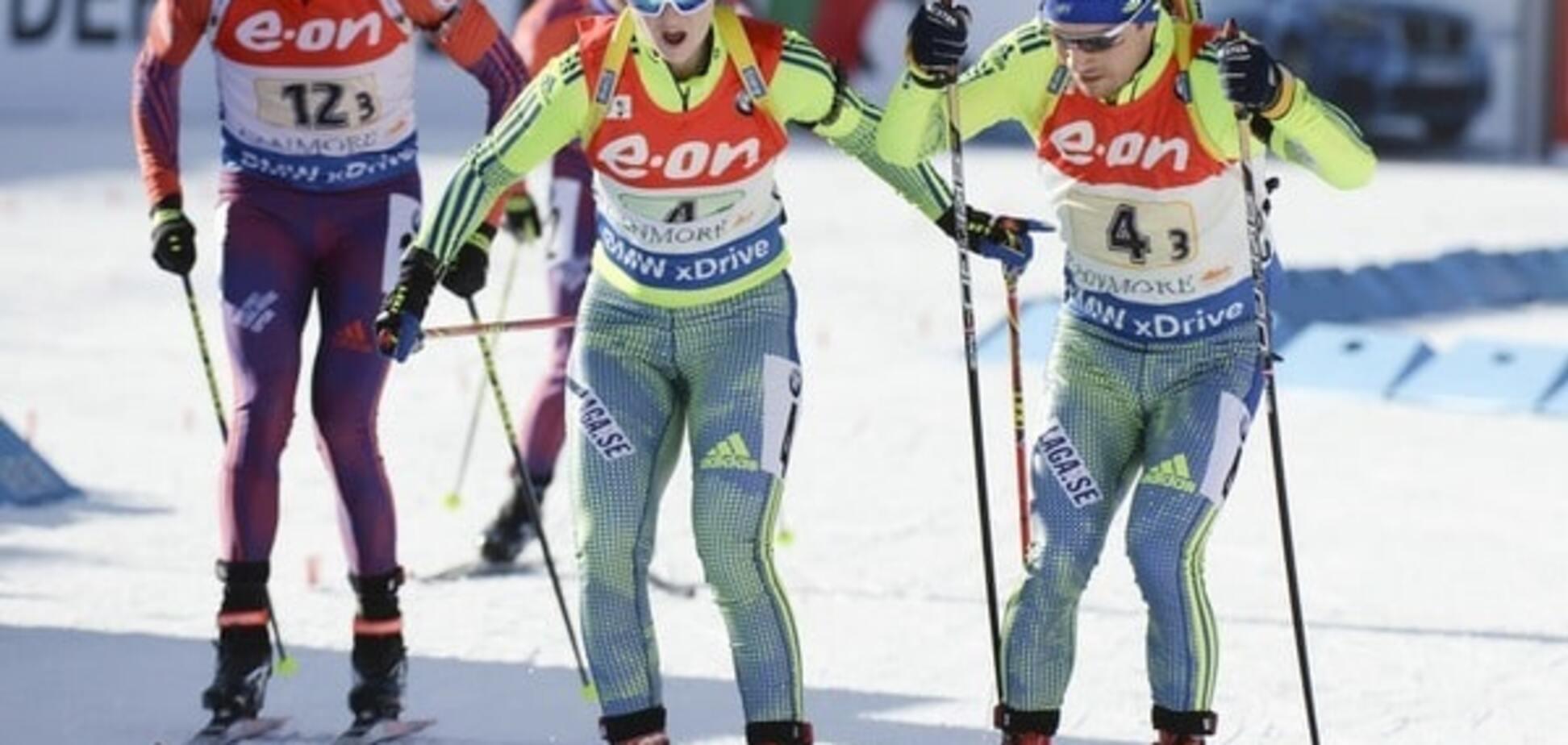 Украина вошла в семерку лучших на эстафете Кубка мира по биатлону