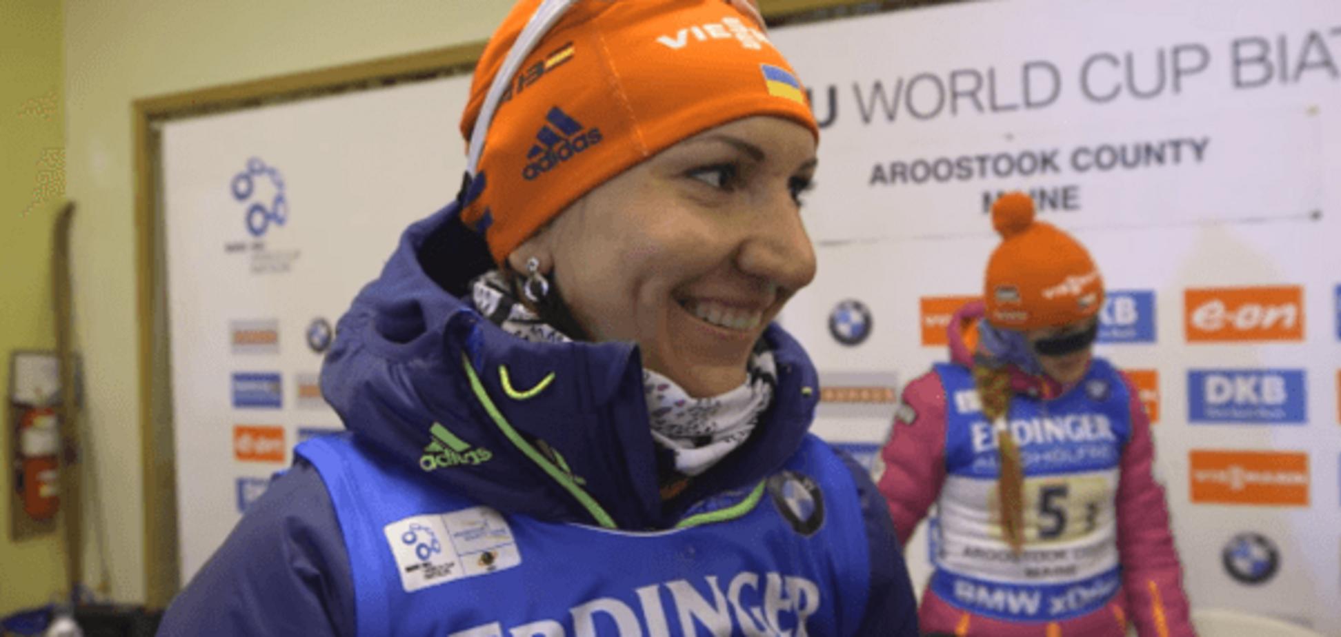 Пидгрушная рассказала, кто ей неожиданно помог выиграть медаль на Кубке мира по биатлону