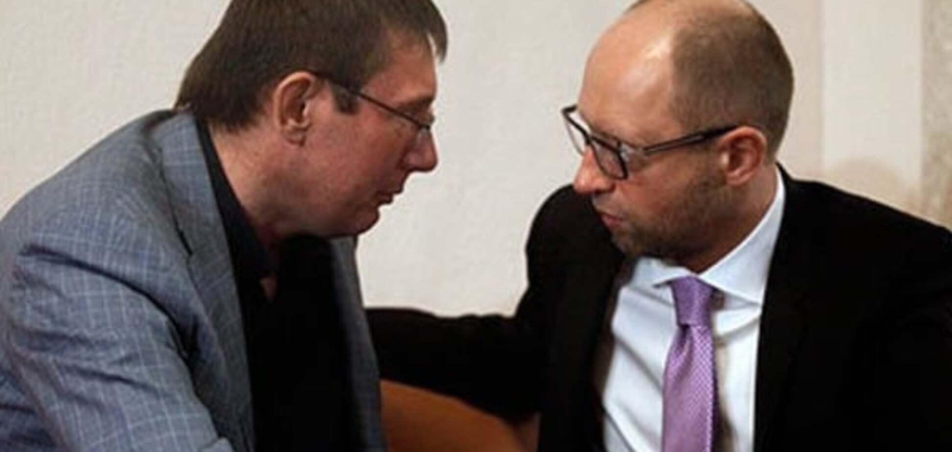 Луценко сравнил Яценюка с 'дохлой лошадью'