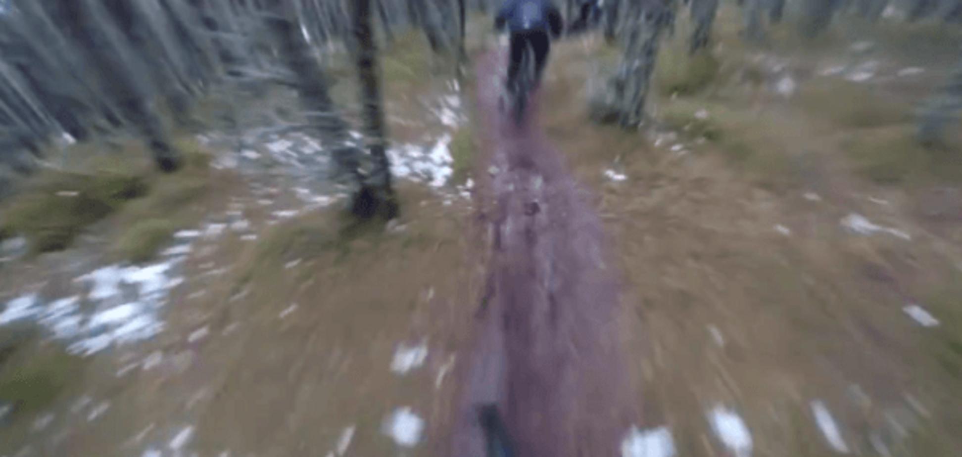 З глузду з'їхати: шотландець-екстремал шокував спуском з гори на велосипеді