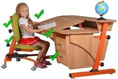 Правильная осанка у школьника: как выбрать письменный стол и стул