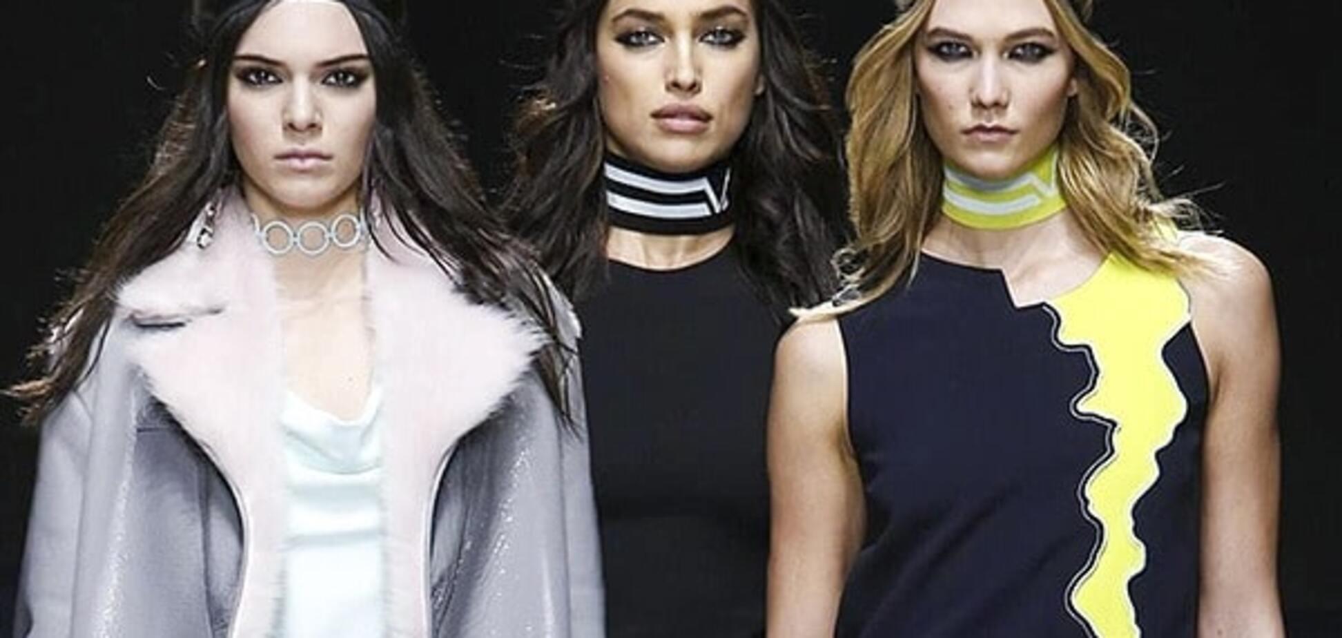 Неделя моды в Милане: Versace собрал топовых моделей в своем показе