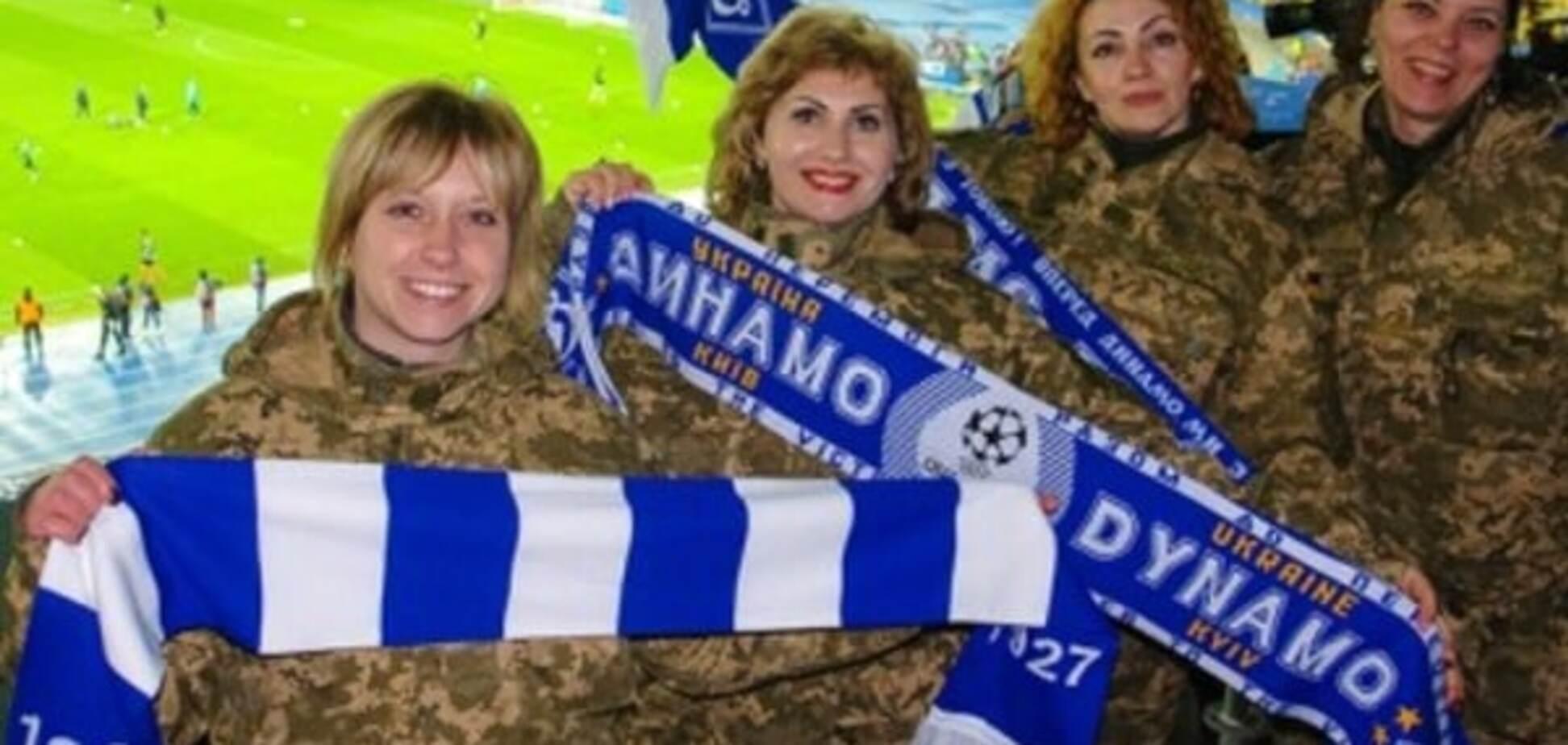 Захворіли футболом. 'Динамо' похвалився красивими українськими уболівальницями: фотофакт