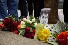 Шендерович і Троїцький в Лондоні вшанували пам'ять Бориса Нємцова: фоторепортаж