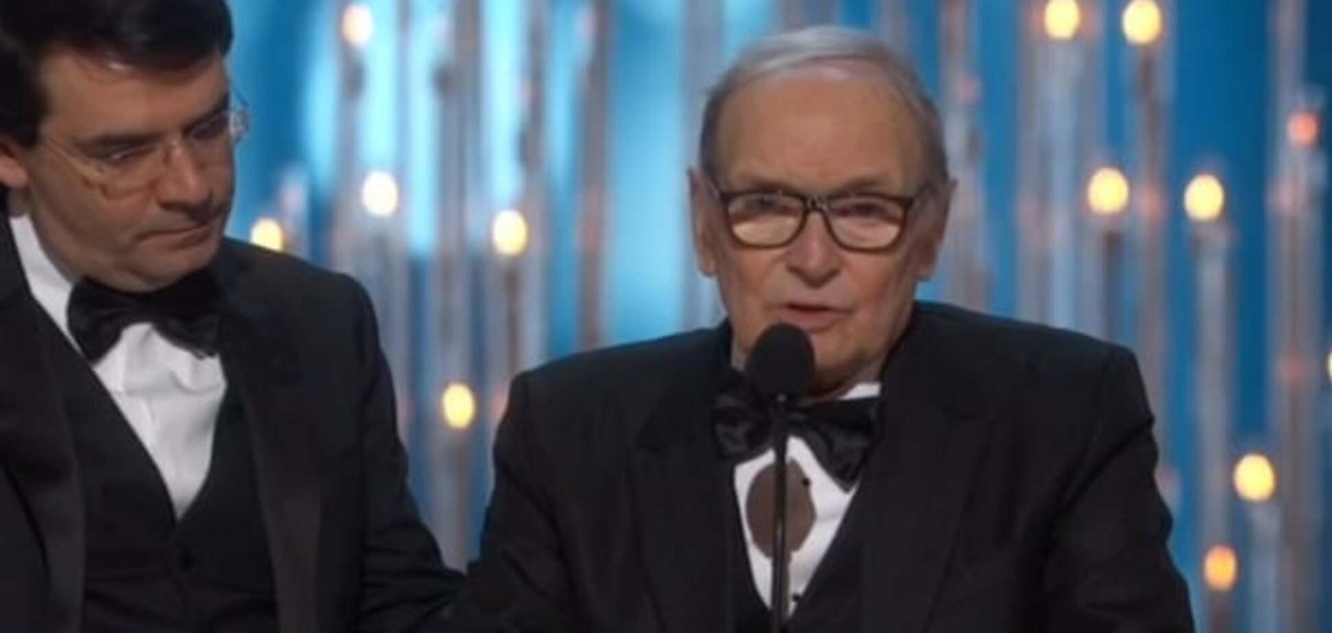 Эннио Морриконе получил 'Оскар' за 'Омерзительную восьмерку'