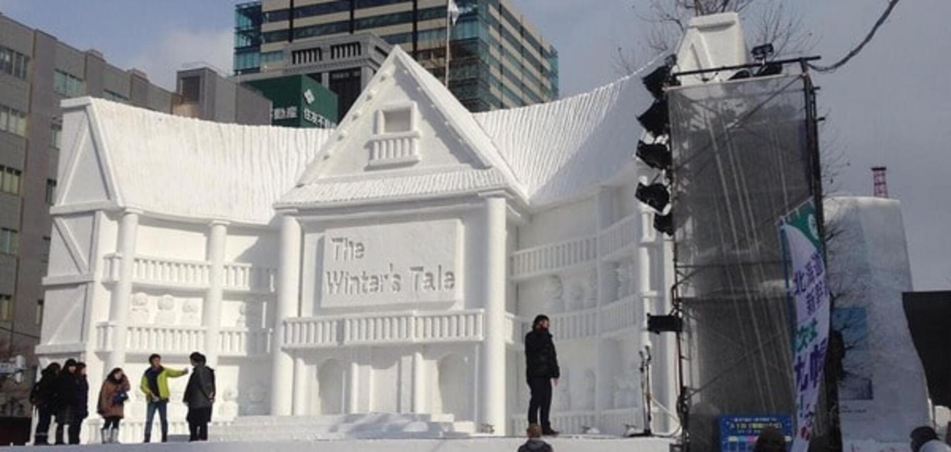 Неймовірна краса: японці створили фантастичні скульптури зі снігу. Фоторепортаж