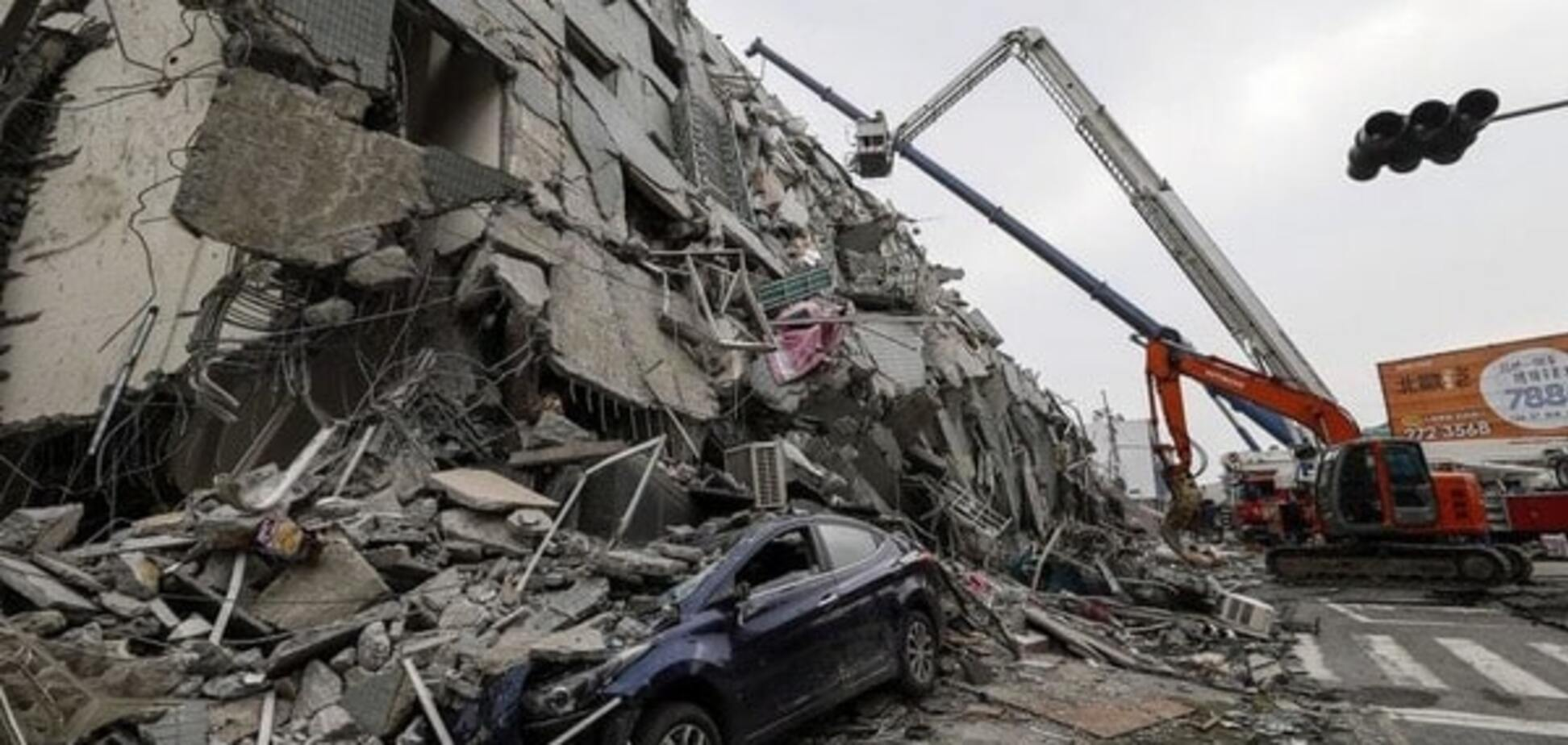 Мощное землетрясение на Тайване: количество жертв возросло