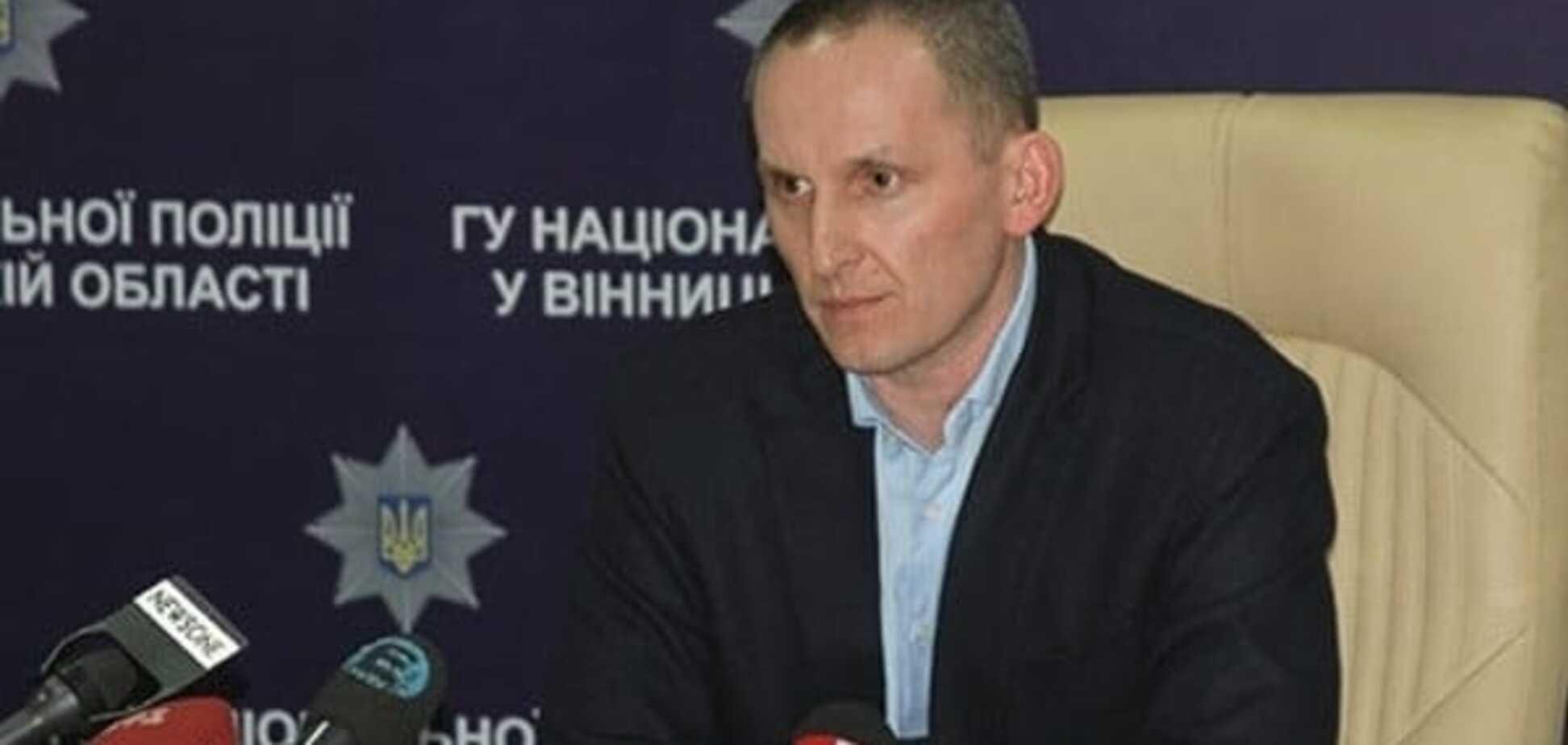 Скандального голову Вінницької обласної поліції відсторонили від служби