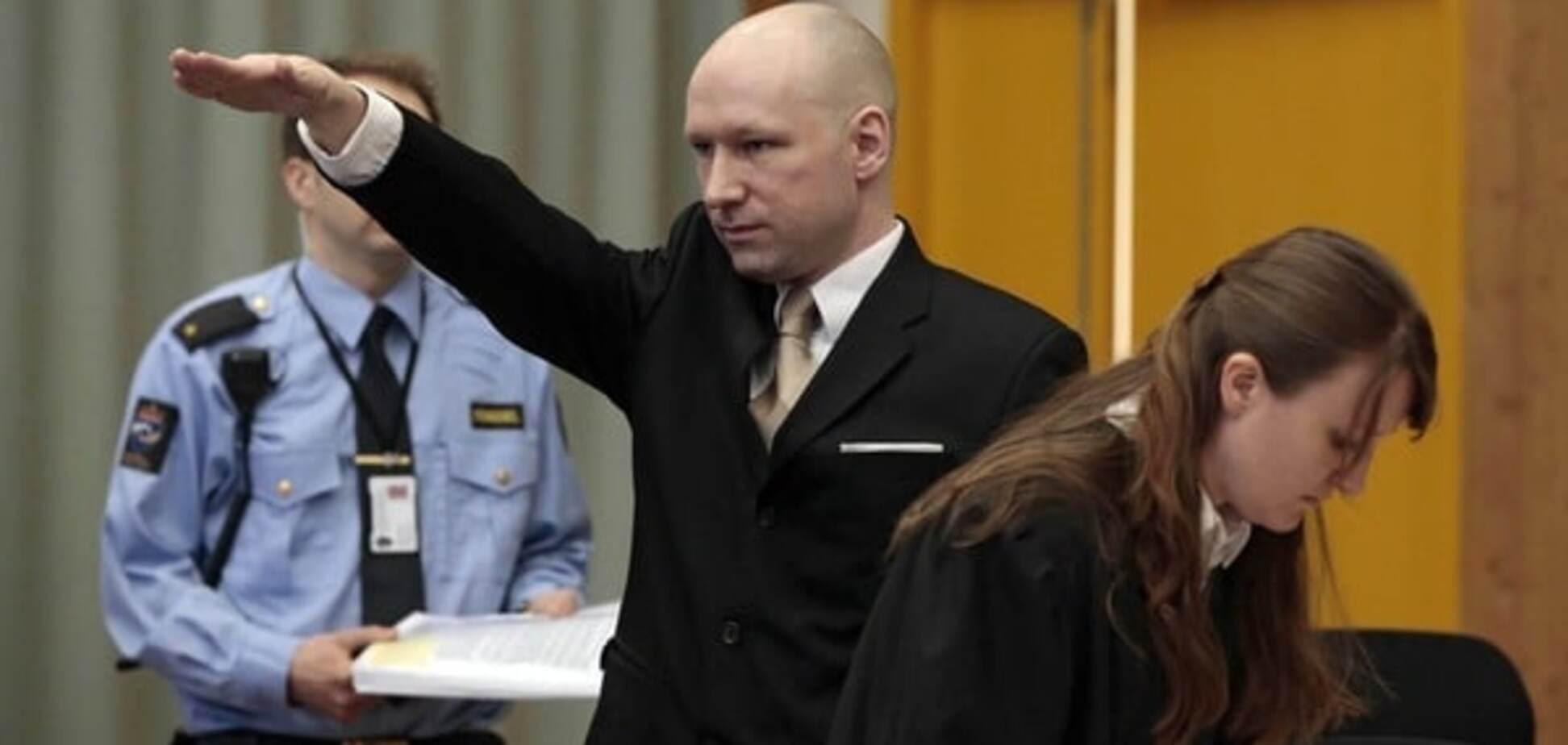 Убивший 77 человек Брейвик на суде 'зиганул' в защиту прав человека