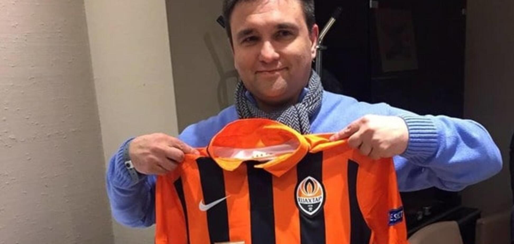 Глава МИД Украины поддержал 'Шахтер' на матче Лиги Европы: фотофакт