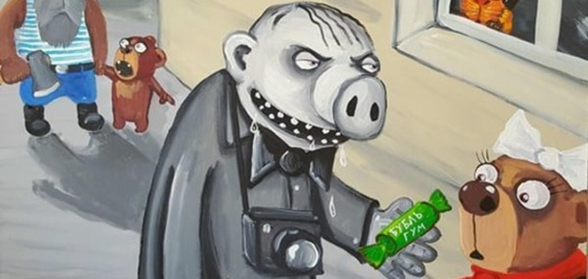 Інтурист: російський художник посміявся над тим, як в країні сприймають іноземців. Фотофакт