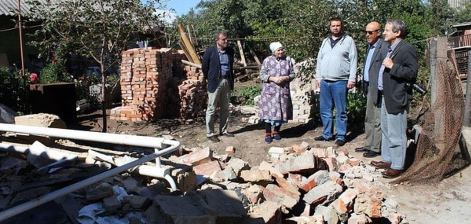 Разрушенный дом, Славянск