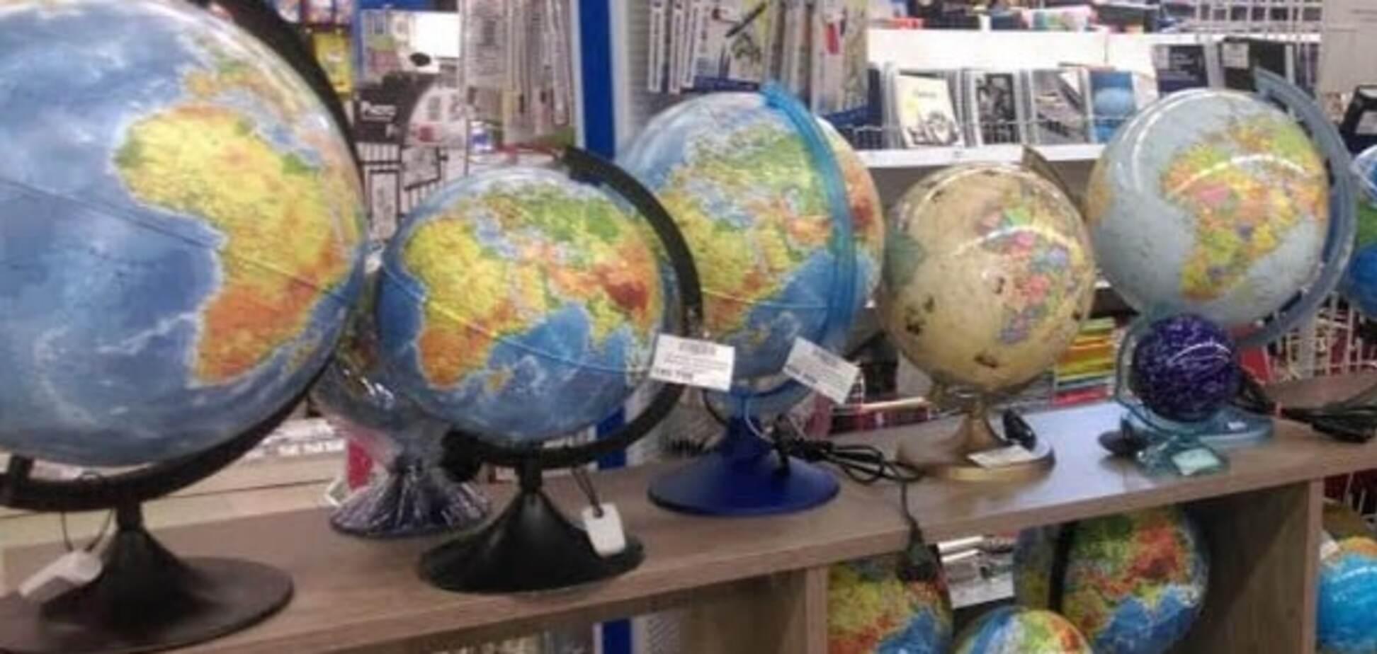 У Білорусі продають польські глобуси з 'російським' Кримом: фотофакт