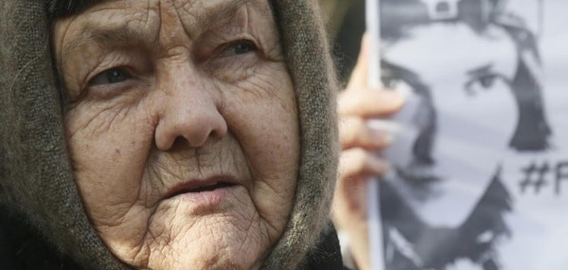 Мама Савченко обізвала 'сволотою' терористів на Донбасі: відеофакт