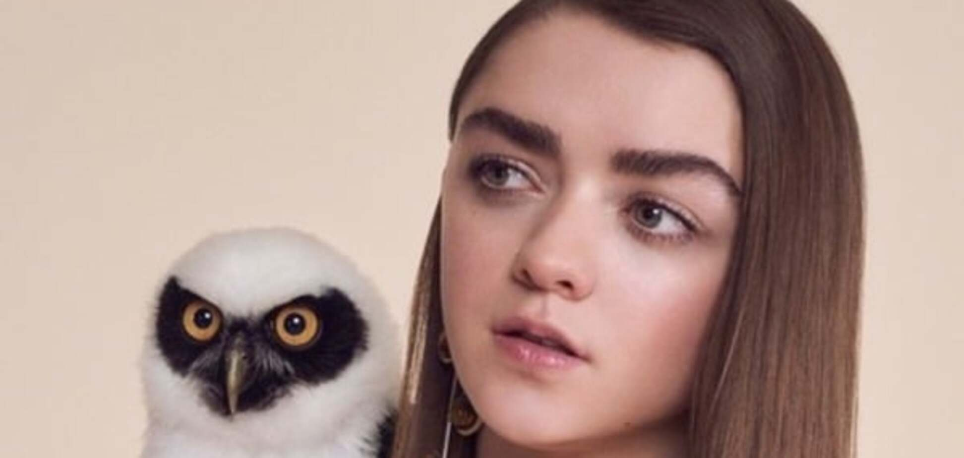 Юная звезда 'Игры престолов' снялась в фотосессии с совами