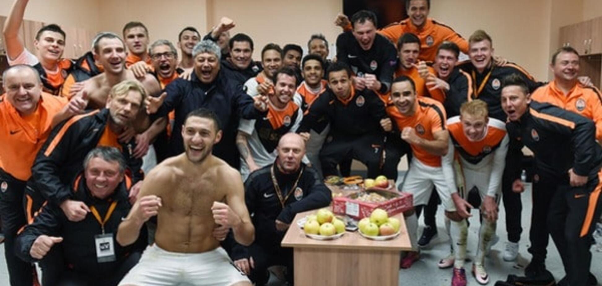 'Шахтар' показав, що відбувалося в роздягальні після виходу у півфінал Ліги Європи: яскраве відео
