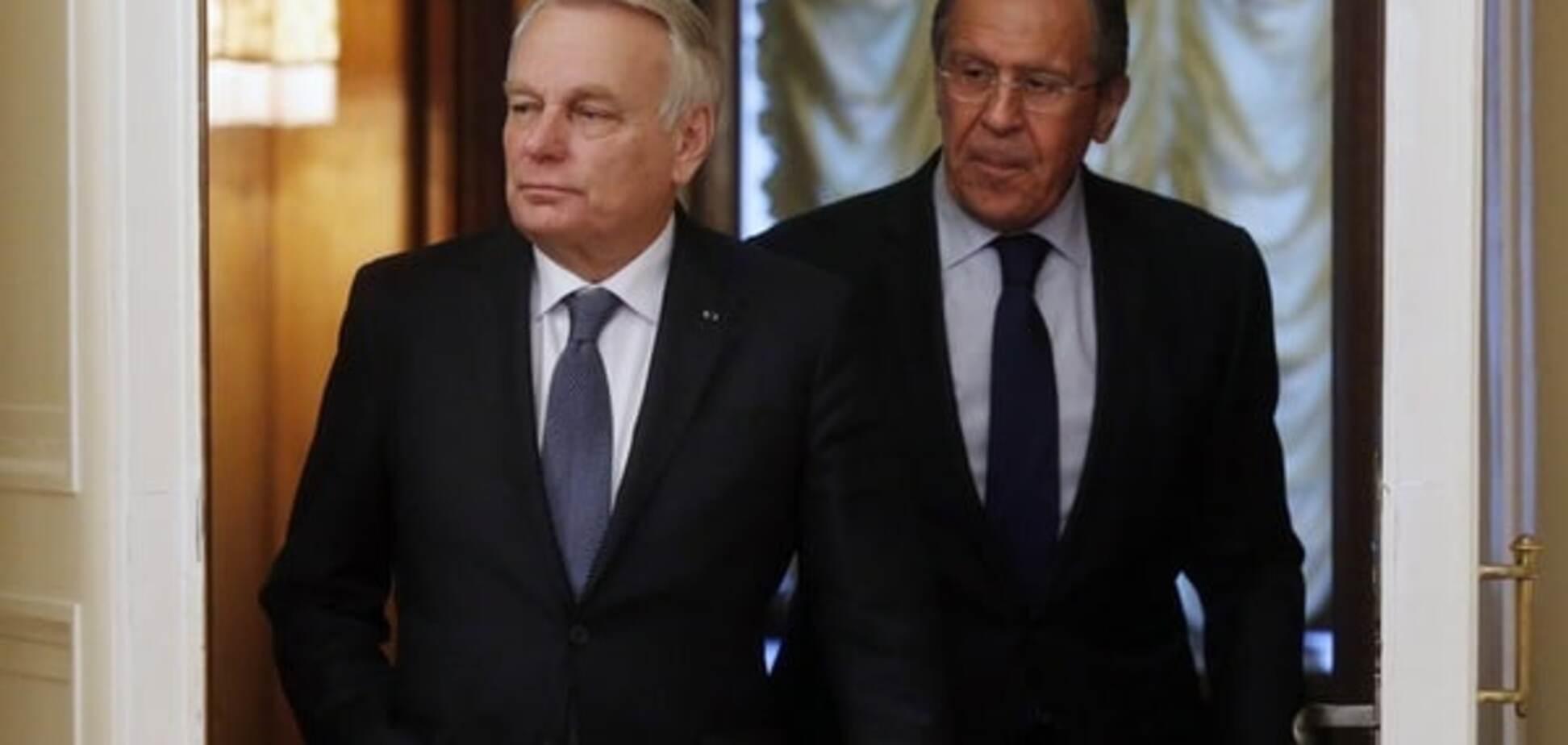 Жан-Марк Эро и Сергей Лавров