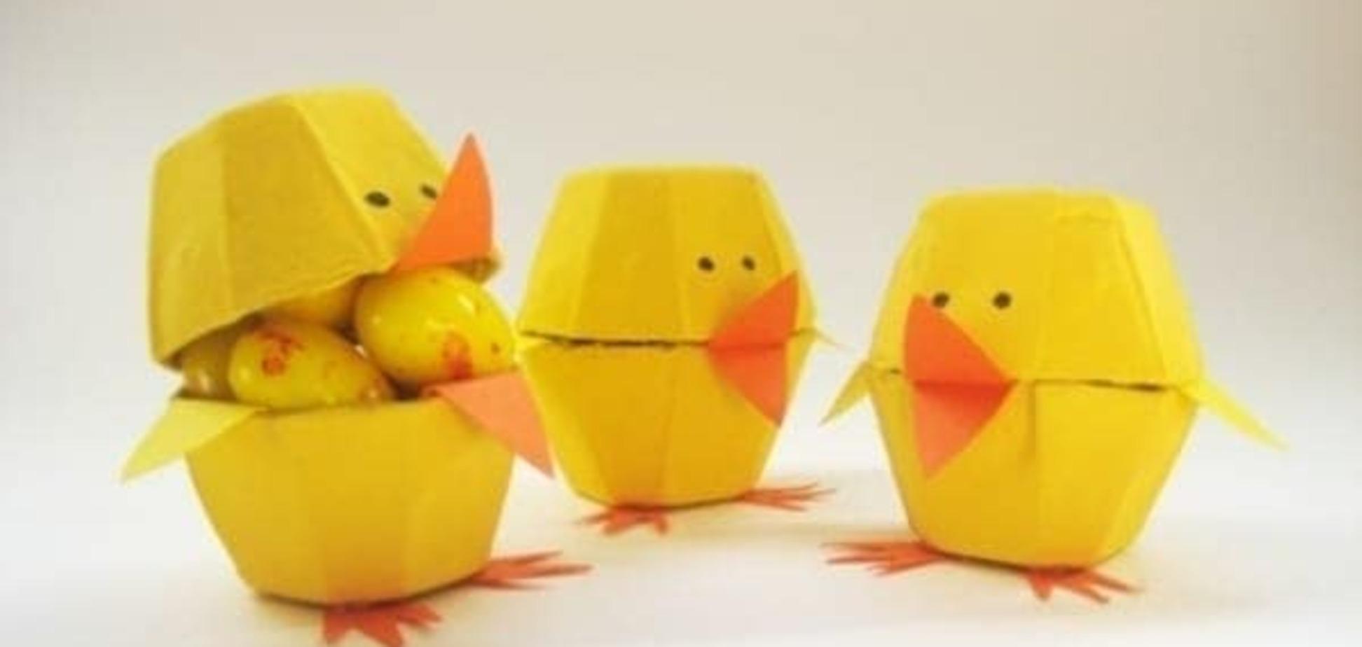 Детские поделки к Пасхе: пасхальные цыплята