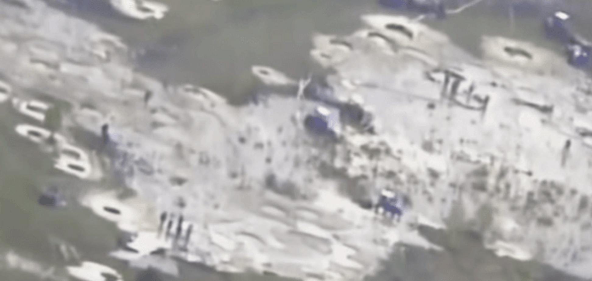 Прикордонники з літака зняли незаконний видобуток бурштину: відеофакт
