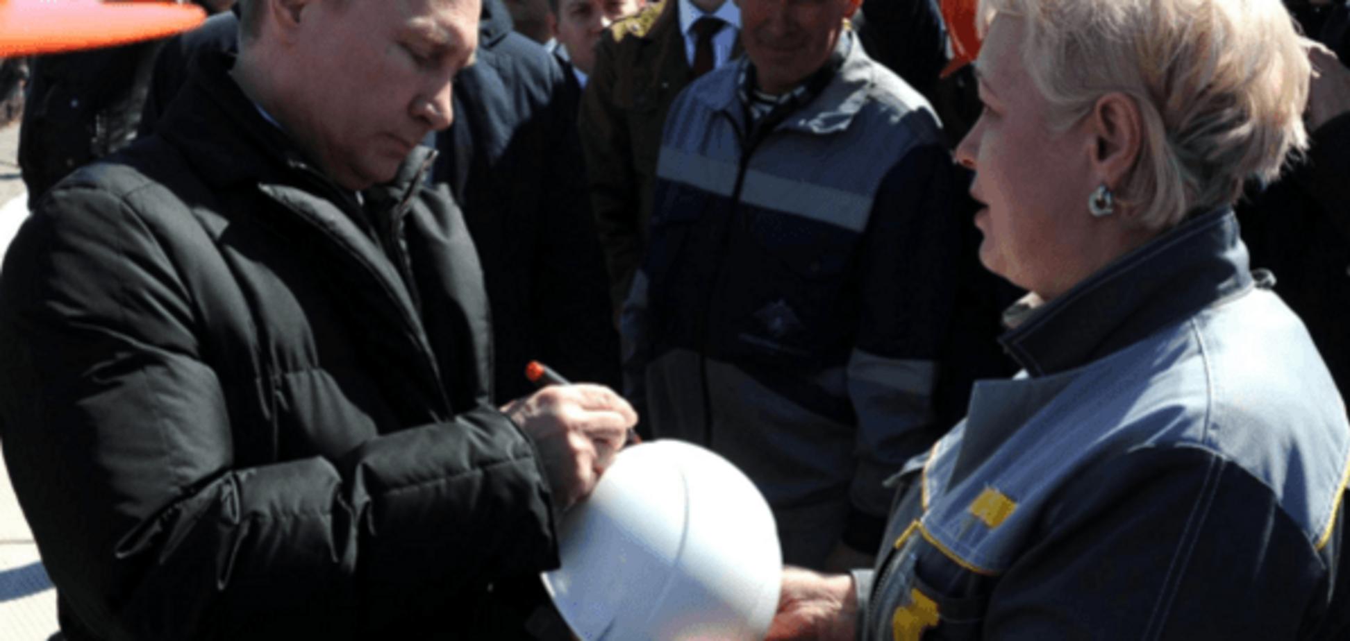 Владимир Путин и рабочие