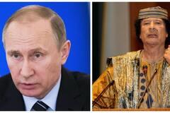 Владимир Путин, Муаммар Каддафи