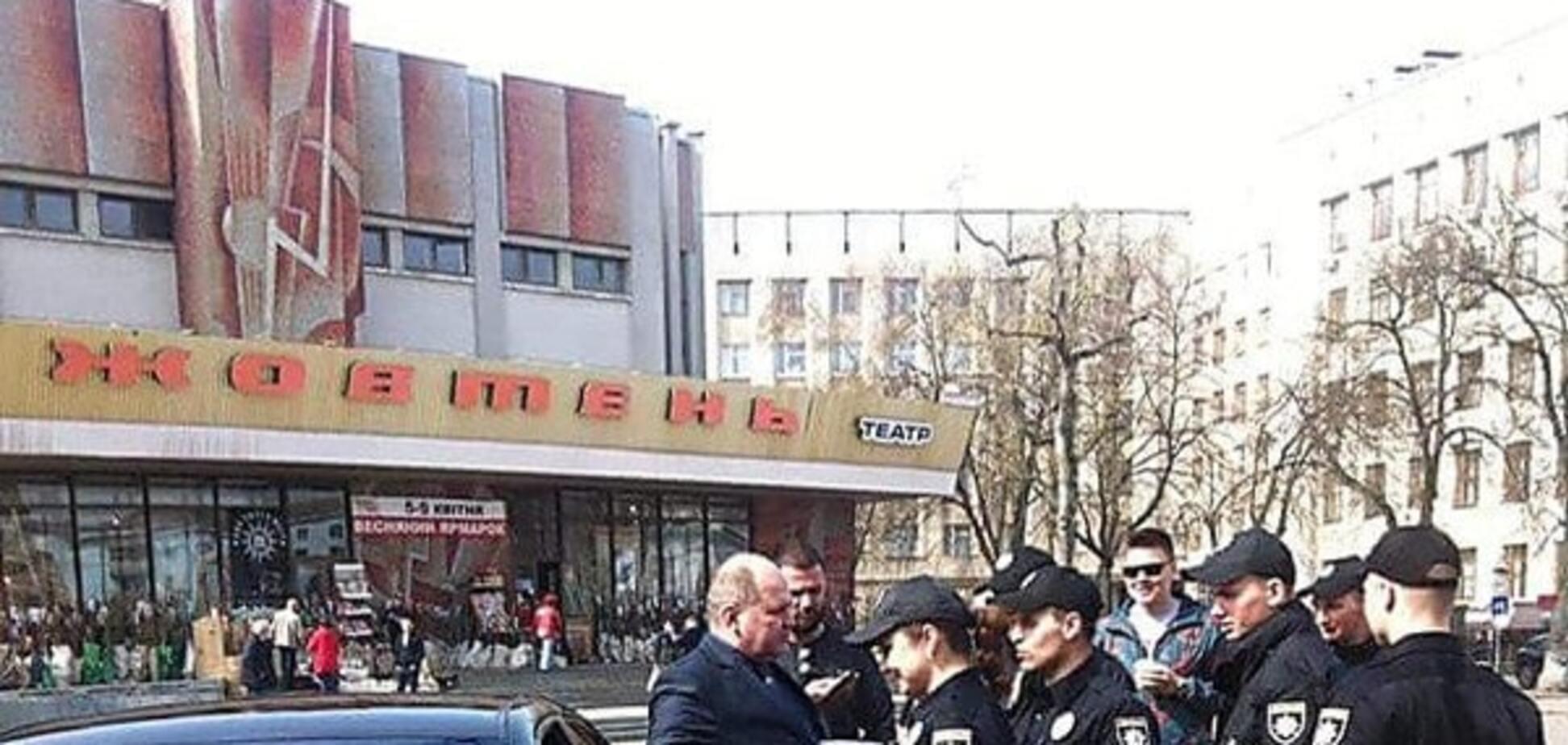 У Житомирі поліція оштрафувала главу СБУ області. Фотофакт