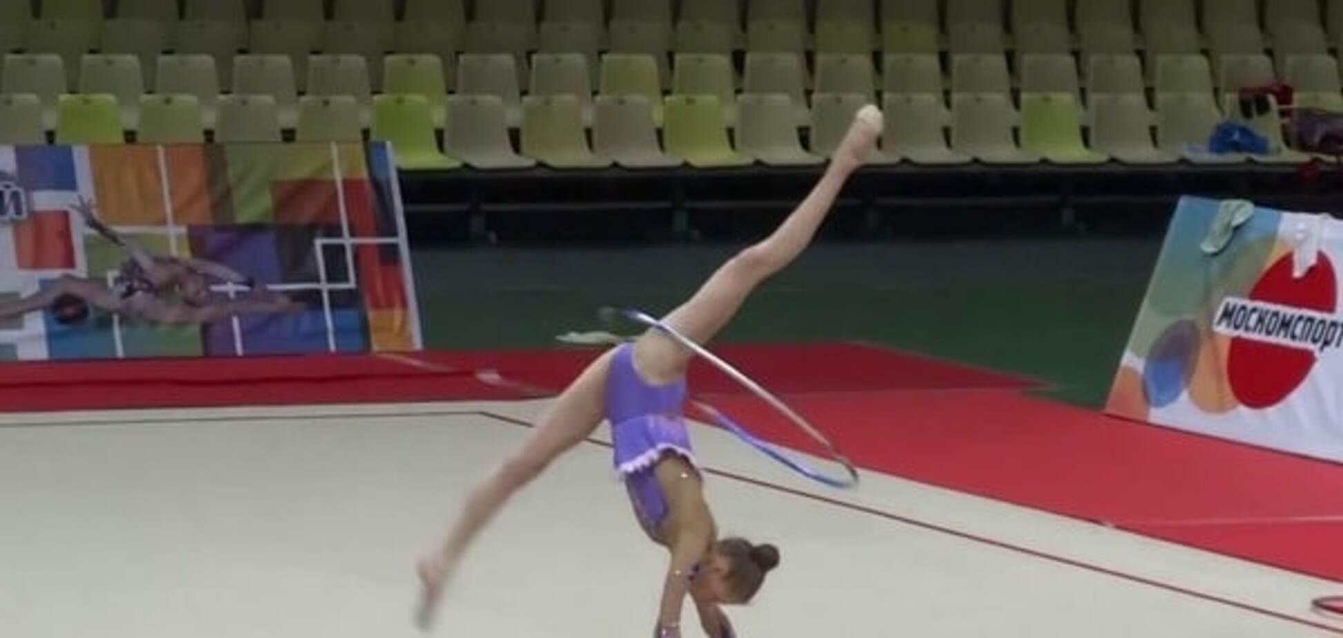 Анна Собещакова гимнастика