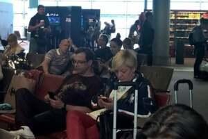 Валерия Гонтарева в аэропорту Парижа