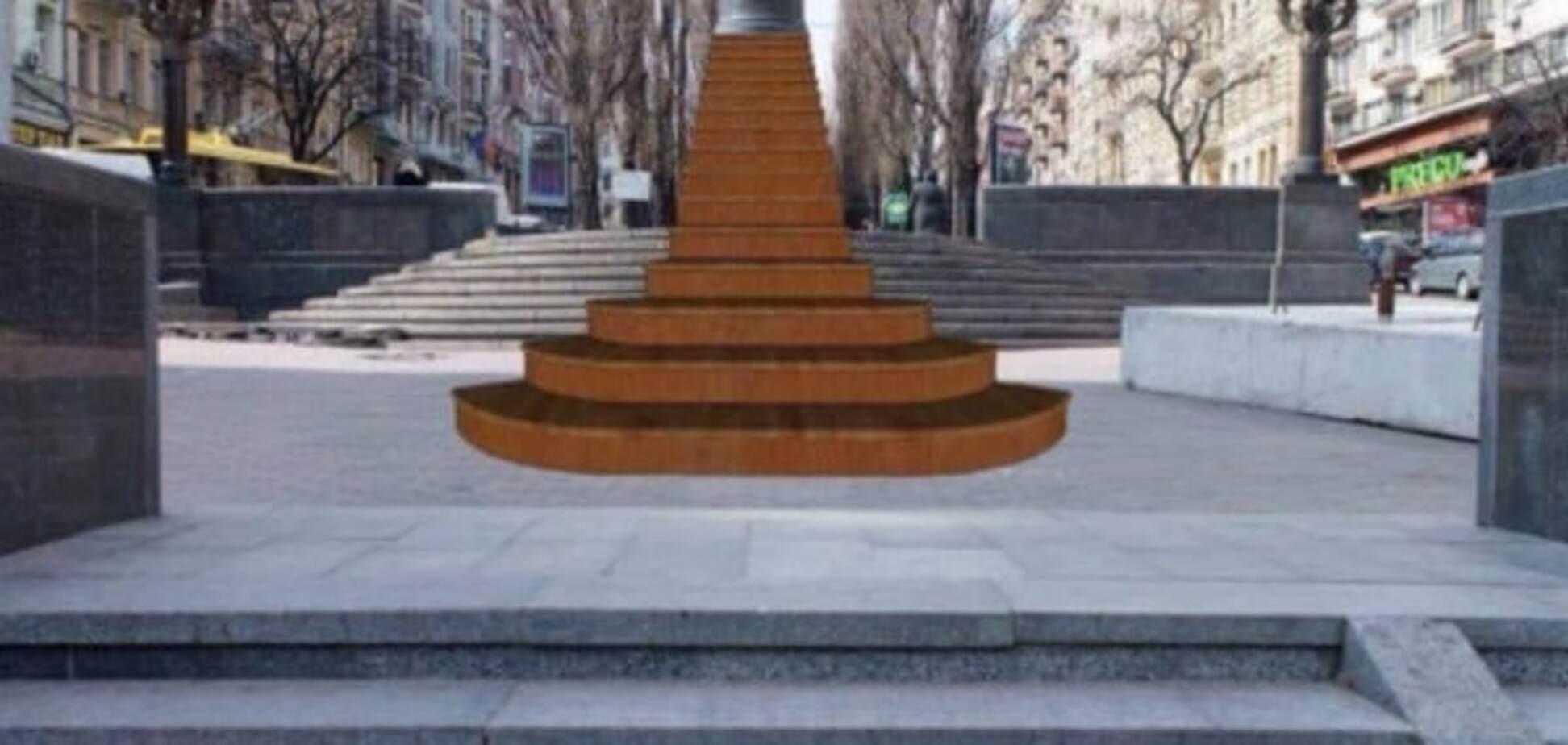 На місці пам'ятника Леніну в Києві встановлять символічні сходи