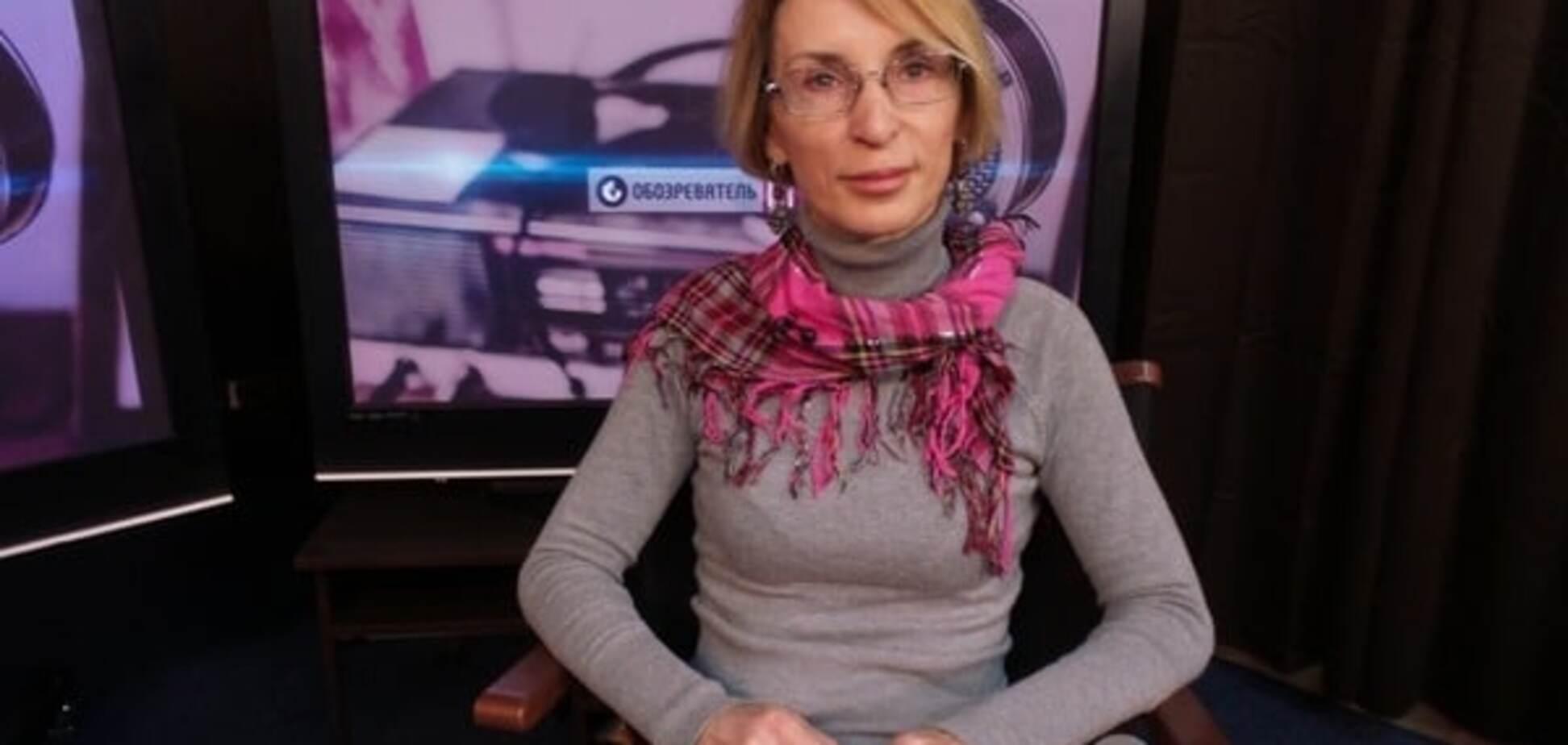 Блогер Ліза Богуцька в студії Обоз-ТВ
