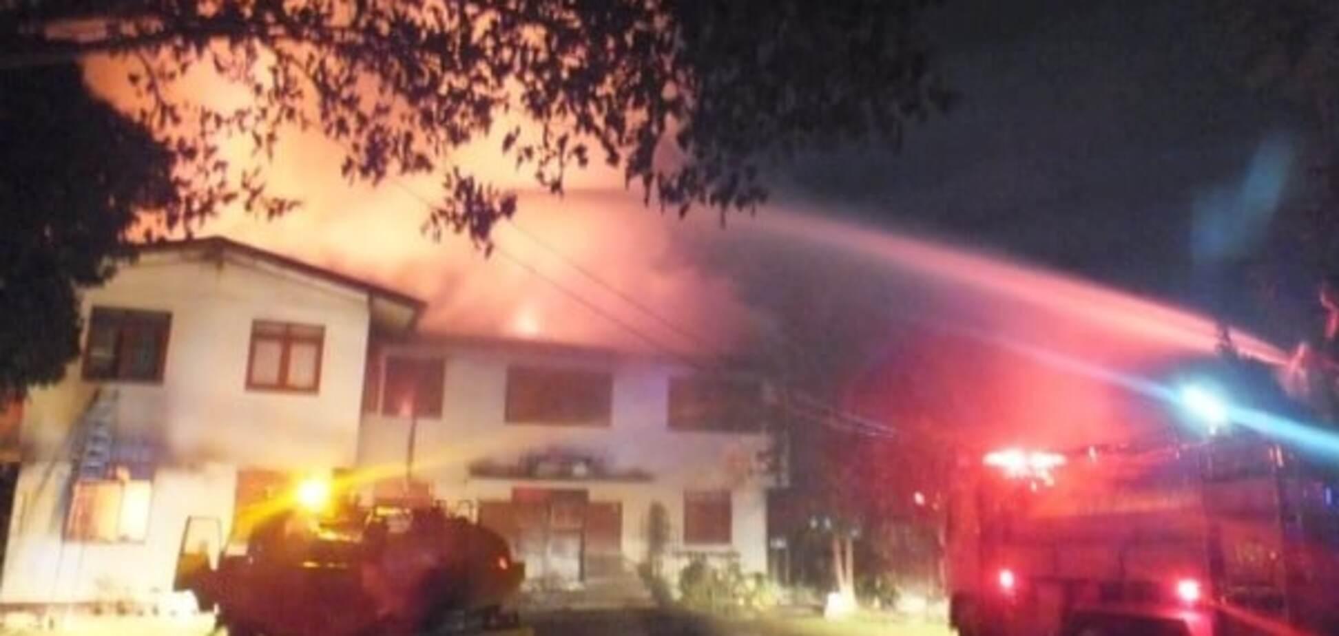 Пожар в Таиланде