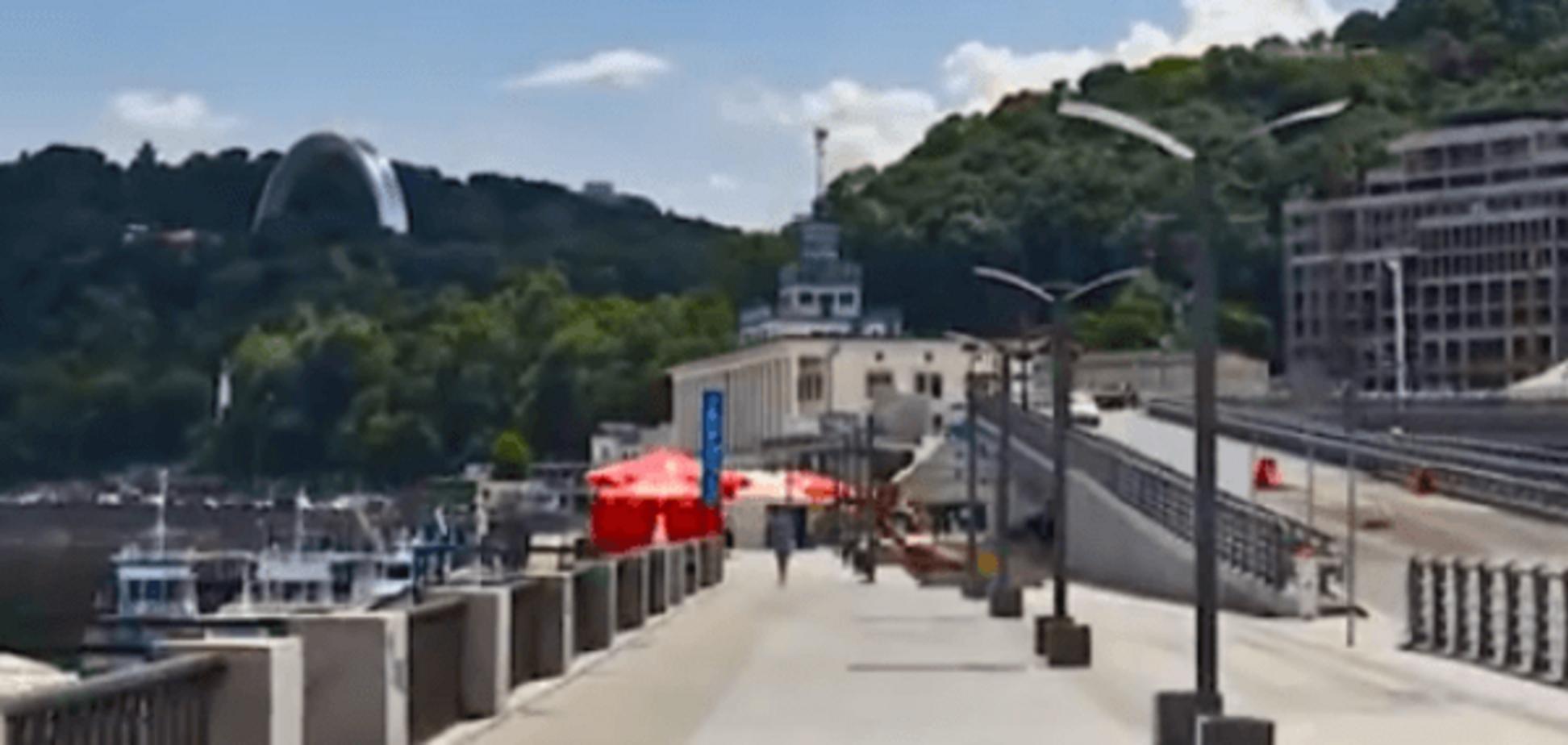 Кадр из видео о Киеве