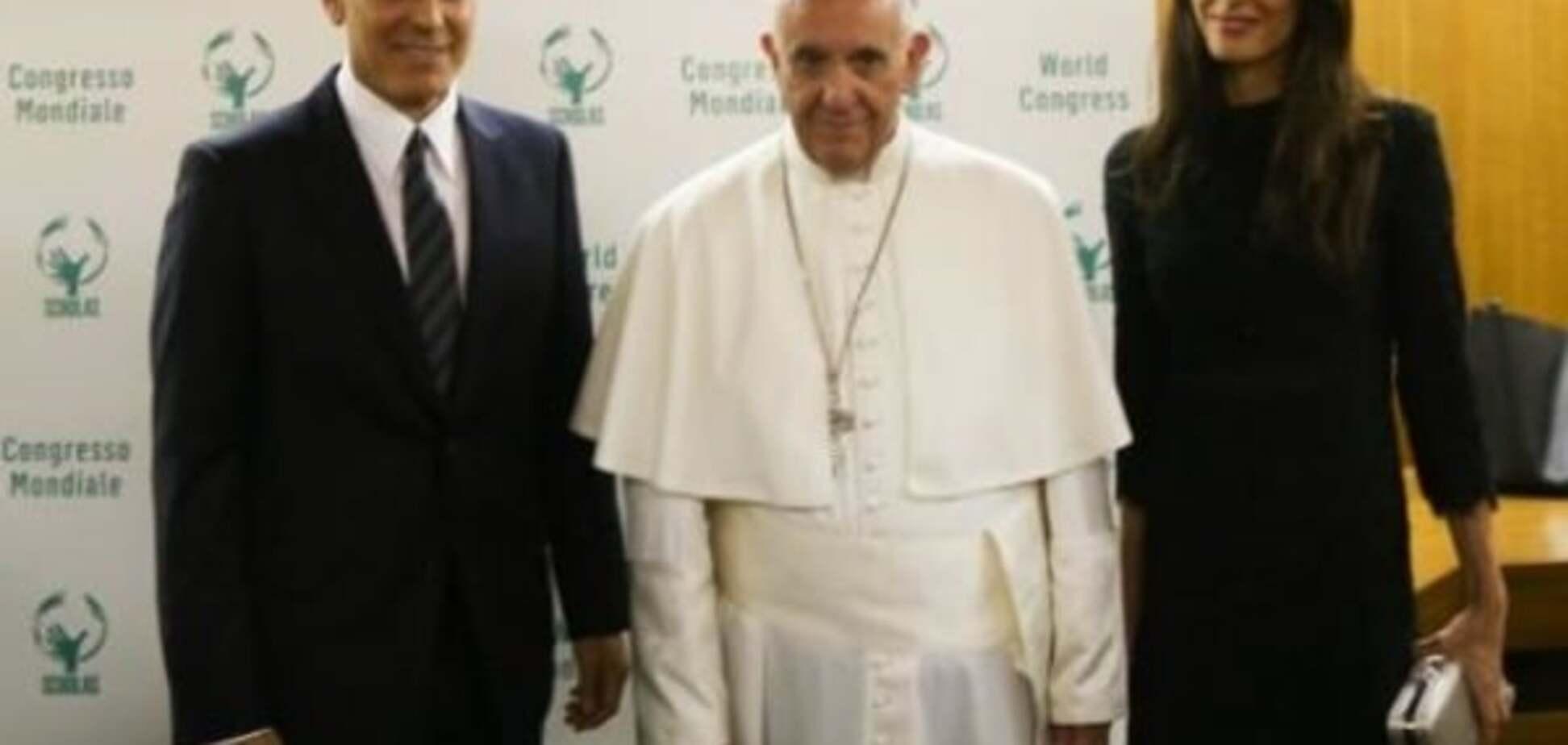 Джордж Клуни, Папа римский Франциск, Сальма Хайек