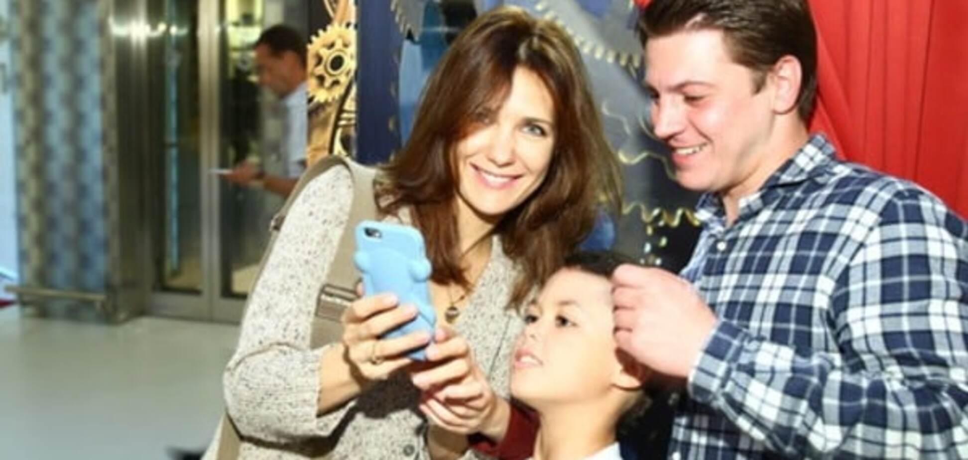 Екатерина Климова с мужем Гелой Месхи и сыном