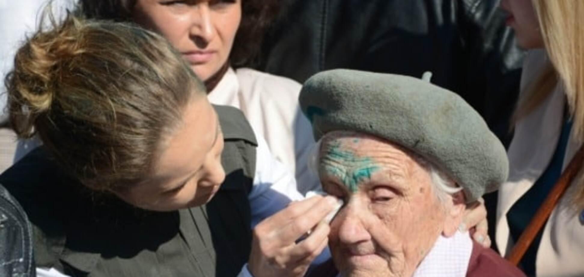 Зеленка попала на 91-летнюю Любовь Печко